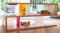 Qubis haus Coffee table Doubles As doll house