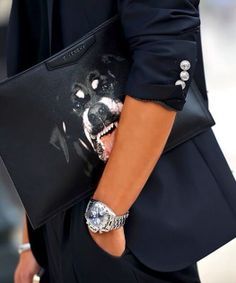 Dog's watching ! Adorable Givenchy clutch