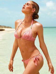 47214d52bbfe2 Some like it hot  meet the Riviera Push-up Halter Bikini Top from Victoria s