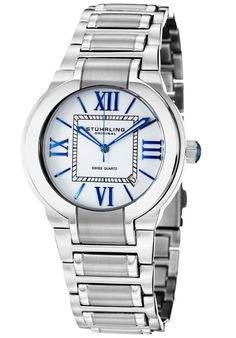 Price:$146.67 #watches Stuhrling Original 428.33112, This elegant men's timepiece is the perfect gift for all occasions. The dial features Roman numerals and a date window between the 4 and 5 o'clock position. This men's watch is finished off with a stainless steel bracelet.