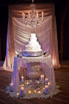 Gorgeous urn for wedding cake table
