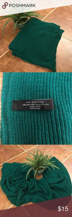 10 Foot Forrest Green scarf This scarf is 10 ft long... Yes.. 10Feet!  It's very warm and cozy however I live in FL!  We have like 3 days of winter here. I have no idea what possessed me to buy this. This needs to go to someone who needs to stay warm and look stylish doing it!! Offers are always encouraged!! ❄️☃️ The Limited Accessories Scarves & Wraps