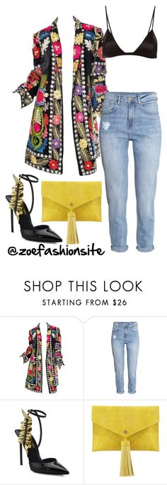 """Untitled #458"" by zoefashionsite on Polyvore featuring H&M, Yves Saint Laurent, Neiman Marcus and Fleur du Mal"