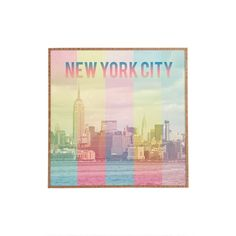 DENY Designs 'New York City' Framed Wall Art (4.395 RUB) ❤ liked on Polyvore featuring home, home decor, wall art, blue, framed wall art, new york city wall art, deny designs, new york city home decor and nyc wall art