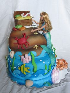 Barbie mermaid cake by Charley And The Cake Factory, via Flickr