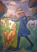 "New artwork for sale! - "" The Shepherdess Spring Marie Child by Fresnaye Roger de La "" - http://ift.tt/2iwZDfY"