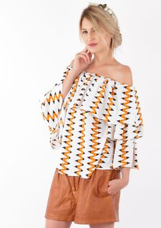 Layered Frill Trim Bardot Neck Top  Hot sommer Trend find it at loubientot.com Bell Sleeves, Bell Sleeve Top, Bardot, No Frills, Off Shoulder Blouse, Layers, Hot, Women, Fashion