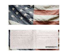 American Flag Dynomighty Tyvek Billfold, show your love for the Stars and Stripes. $25.00