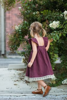 Burda Girl's Flower Dress In Double Gauze // Stitched Together