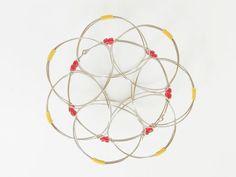 Wire flower lotus mandala 3d / Meditation toy / Magic Loops / Iron bracelet / Children toy / Mandala Bracelet /  Magic Loops