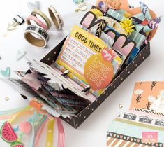 bucket list scrapbook Bea Valint: Summer Bucket list with Shine On collection Paper Crafts Magazine, Mini Album Tutorial, Rolodex, Summer Bucket Lists, Scrapbook Page Layouts, American Crafts, Paper Gifts, Crafts To Do, Calendar Journal