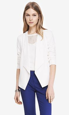 Shop blazers for women at Express. A black blazer, pinstripes or sleeve details will help you make a lasting impression. Blazers For Women, Suits For Women, Jackets For Women, Clothes For Women, Red Blazer, Cropped Blazer, Business Outfits Women, Business Women, Clothes