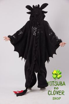 Toothless kigurumi NEW VERSION by yotsubanoclover on Etsy