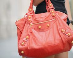 Someday I will own a coral & gold bag