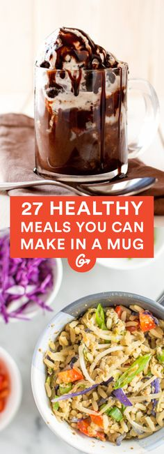 These super quick breakfast, lunch, and dinner recipes are surprisingly flavorful #healthy #meals http://greatist.com/eat/healthy-mug-recipes