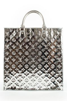 louis vuitton...miroir sac plat in silver
