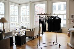 Negative Underwear's No-Frills Bra Décor Ideas, Room Ideas, Office Inspo, Exposed Brick, Catwalks, My Room, No Frills, Wardrobe Rack, Showroom