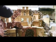 Riciclo creativo scatole pacchi pasta: casetta presepe-baita montagna Natale 2014 -tutorial- faidate - YouTube