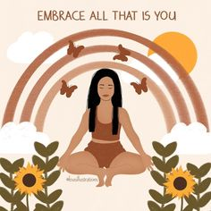 """Lou on Instagram: """"'Embrace all that is you.' Prints and other products available via link in bio or directly from highlights!"""" Makeup Wallpapers, Lotus Art, Happy Words, Artist Names, Aesthetic Art, Deep Thoughts, Disney Characters, Fictional Characters, Highlights"""