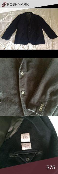 Men's midnight/navy velvet blazer by GAP Men's midnight/navy velvet blazer by GAP. In immaculate condition. Freshly dry cleaned. GAP Jackets & Coats