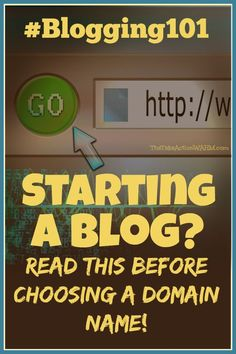 Starting a Blog? Read This Before Choosing a Domain Name! It's one of the most important decisions you have to make - and it's the one thing that can't be changed later, so you want to get it right! Blogging | Content Marketing