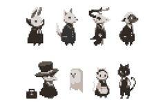 Pixel art characters Anime Pixel Art, Pixel Animation, 8bit Art, Pixel Art Games, Beste Tattoo, Grafik Design, Character Design Inspiration, Pablo Picasso, Art Tutorials