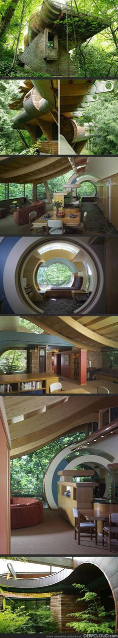 Whimsical Wooden Tree House Brings Nature, Music to Life in Portland, Oregon - Architect Robert Harvey Oshatz