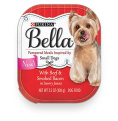 Small Dog Inspired Food With Beef & Smoked Bacon in Savory Juices - Bella®
