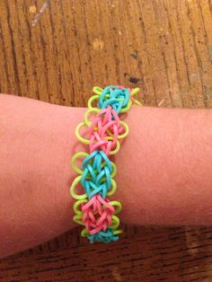Butterfly blossom rainbow loom bracelet