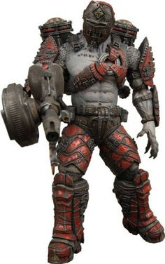 Gears of War NECA Series 4 Action Figure Locust Grenadier (Helmeted with Flamethrower) by NECA. $29.80. Gear of War 2 Series 4 Locust Grenadier Flame Thrower Figure. Due out late July, our fourth series of figures based on the wildly popular Gears Of War 2 coincides with the release of the brand new All Fronts Collection for Xbox 360! The series features four figures from the game and of course enough firepower to blast Locust into oblivion!  With interchangeable heads,...