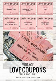 vintage love coupons