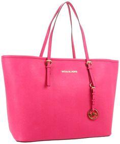 Michael Michael Kors Jet Set Logo Medium Travel Tote, Zinnia | Traveling Of Life #fashion #women #bags #shoes #clothing