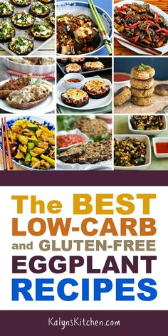Low-Carb and Gluten-Free Eggplant Recipes – Kalyn's Kitchen Keto Eggplant Recipe, Eggplant Recipes, Gluten Free Recipes, Low Carb Recipes, Healthy Recipes, Tofu Recipes, Vegetarian Recipes, Keto Friendly Desserts, Low Carb Desserts