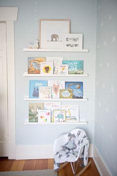 Up In The Sky Nursery – Project Nursery Nursery Book Corner Baby Room Themes, Girl Nursery Themes, Baby Boy Nurseries, Baby Cribs, Modern Nurseries, Neutral Nurseries, Book Themed Nursery, Nursery Room Ideas, Babies Nursery