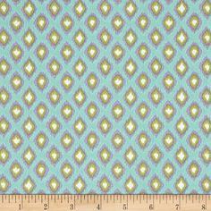 Tangier Ikat Diamond Aqua. Designed by Dena of Dena Designs for Free Spirit