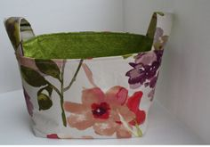 Lined Fabric Basket.  The storage by aletheainstitches on Etsy, $20.00