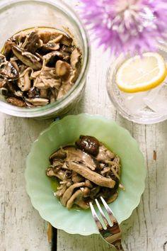 Addictive Marinated Japanese mushrooms mix
