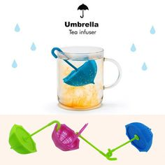 DIY Cute Umbrella Shape Silicone Tea Filter Coffee & Tea Tools for Strainer Herbal Spice Infuser Kitchen supplies #Affiliate