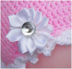 Różowa czapeczka  - Fantazja-handmade - Czapeczki dla niemowląt