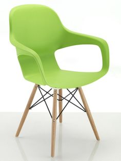 Contemporary Cafe Chair With Wooden Spindle Legs.