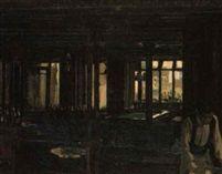 A café interior by William John Leech