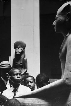 Eve Arnold, New York City, 1961. Black Muslim children at the Metropolitan Museum of Art.