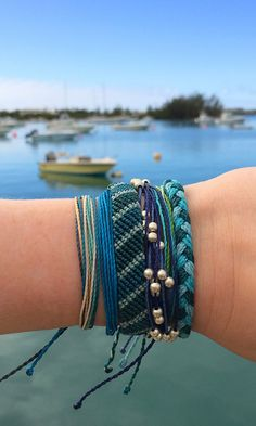 Shades of Blue Wrist Fashion - Perfect for Summer Travels