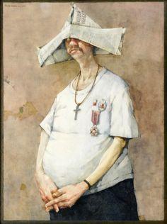 Autoportret - Ora et colabora - 1982 Olej na płycie