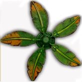 Palm leaf ceiling fan replacement blade fit on by baypointfans banana leaf fan aloadofball Gallery
