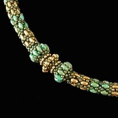 METALLIC PATINA Beaded Necklace, DAYDREAMER Slider Rope Necklace, Necklace with Sliders