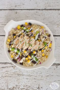 Turn your kitchen into a mini-Chipotle and let everyone make their own rice bowls topped with margarita chicken.