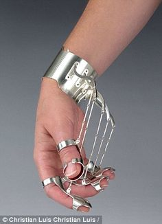 jewelry that resembles torture instruments..