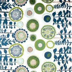 Spira Solros Blue Fabric -HUS & Hem- Scandinavian Design For The House And Home  $46 per meter