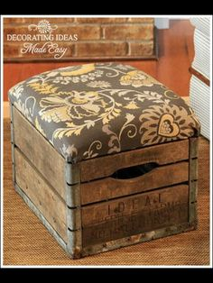 Antique box as a foot rest w/ storage